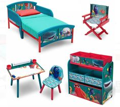 Disney Finding Dory Room-in-a-Box with Bonus Chair Only $99 - http://www.swaggrabber.com/?p=314585