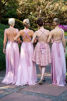 Gorgeous 'goddess' bridesmaid gowns