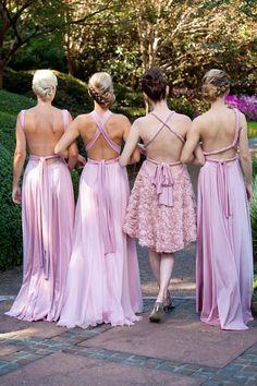 Gorgeous 'goddess' bridesmaid gowns