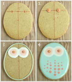 Easter Owl Cookies