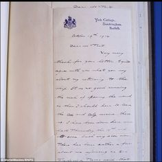 In one letter written by George to Admiral Tait on October 19 1914, the royal says he agrees with his advice not to return to H.M.S. Collingwood after being injured   Read more: http://www.dailymail.co.uk/news/article-2773671/Here-I-left-home-women-breaking-heart-Astonishing-letters-future-kings-Edward-George-bemoan-terrible-misfortune-having-sit-WWI.html#ixzz3Eilj8iJh  Follow us: @MailOnline on Twitter   DailyMail on Facebook
