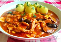 Hungarian Recipes, Thai Red Curry, Chicken Recipes, Menu, Ethnic Recipes, Food, Cake, Goulash, Red Peppers