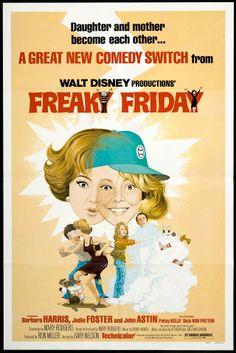 Freaky Friday (1976) starring Barbara Harris & Jodie Foster