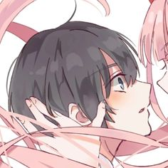 Find images and videos about anime, kawaii and manga on We Heart It - the app to get lost in what you love. Manga Couple, Anime Love Couple, Cute Anime Couples, Chica Anime Manga, Kawaii Anime, Anime Guys, Anime Couples Drawings, Couple Drawings, Matching Profile Pictures