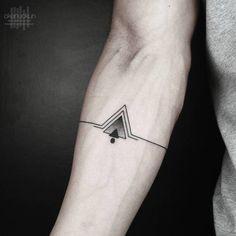 Simple Geometric Tattoo by Okan Uckun