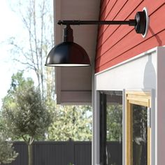Gracie Oaks Antoinette LED Outdoor Barn Light | Wayfair Outdoor Barn Lighting, Sign Lighting, Outdoor Wall Lantern, Outdoor Walls, Outdoor Flush Mounts, Outdoor Sconces, Porch Lamp, Modern Rustic Interiors, Beveled Glass