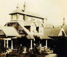 The Manor, Mosman, the headquarters of the Theosophical Society. Dotty's mother and brothers went to live here with the Bishop Leadbetter in the mid-1920s.