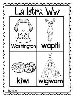 Palabras con W | anghi | Preschool spanish, Alphabet ...