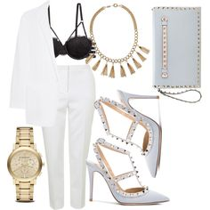 baby blue by stanislavajur on Polyvore featuring DKNY, Topshop, H&M, Valentino, MaxMara and Burberry