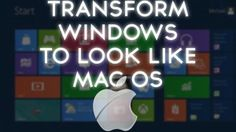 Mac Theme For Windows 8 : In this post ill you will know how to transform your windows 8 into mac for free and it is very easy to transform.