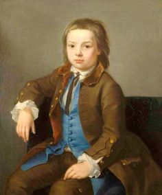 Portrait Of A Young Boy by Nathaniel Hone the Elder (1718-1784)