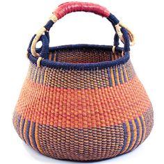 "Ghana Bolga Baskets - Gambibgo Pot  16.5"" Across29092"