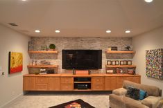 Modern entertainment center with fireplace contemporary entertainment center with fireplace design living room contemporary entertainment center Basement Entertainment Center, Contemporary Entertainment Center, Entertainment Ideas, Custom Entertainment Center, Floating Shelves Entertainment Center, Living Room Tv Wall, Living Tv, Modern Living, Muebles Living