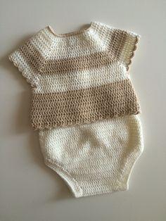 Jersey talla 1-3 meses #mantas #crochet #hechoamano #handmade #miabuelangelita #lana #algodón #ropadebebe #bebe #canastilla