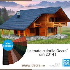 Va plac culorile Decra din 2014? Am pregatit Mari Reduceri la toate culorile tiglei metalice Decra , in aceasta perioada :) www.decra.ro