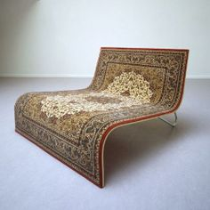 """Interesting carpet/sofa concept by Tonio de Roover. The sofa resembles a flying carpet that wants to rise from the earth like in the tale """"One thousand and one nights"""". Unusual Furniture, Funky Furniture, Furniture Design, Sofa Design, Design Art, Design Ideas, Funky Sofa, Estilo Kitsch, Unique Sofas"""