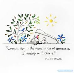 """52 Likes, 4 Comments - ILLUSTRATION⭐️ARTyoga (@michelles_art) on Instagram: """"Compassion is the recognition of sameness! . . . . #iyengaryoga #illustrator #artwork #picame…"""""""