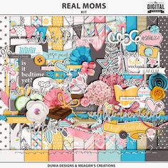 What do real moms want? What's life like for a mom everyday? Scrap your everyday mom moments with this fun but elegant digital scrapbooking kit. Everything you need to scrap your wild and crazy days as well as your days off, this collaboration between Meagan's Creation and Dunia Designs is packed with fun wordy bits, themed elements and gorgeous basics.