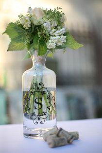 Sticker monogram to put on glass jars
