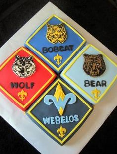 11 Impressive Cub Scout Cakes for Blue and Gold that Look Amazing! - Boy Scouts of America Camping Games Kids, Camping Crafts For Kids, Camping Theme, Cub Scouts, Girl Scouts, Scout Mom, Cub Scout Crossover Ceremony, Eagle Scout Cake, Cub Scout Crafts