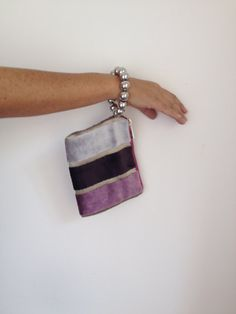 Evening purse bag plum small clutch evening by vquadroitaly