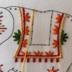 Here's a sneak peek of lattice work done in Elephant embroidery kit 🐘 Repost Embroidery Leaf, Hand Embroidery Videos, Hand Embroidery Flowers, Hand Work Embroidery, Flower Embroidery Designs, Hand Embroidery Patterns, Embroidery Kits, Cross Stitch Embroidery, Embroidery Dress