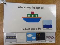 Where Questions Vehicles Adapted Book. pic only bad link: idea: boat/plane/bus e… Where Questions Vehicles Adapted Book. pic only bad link: idea: boat/plane/bus etc with pics of pilot/ocean/steering wheel to answer who versus where. Autism Activities, Speech Therapy Activities, Language Activities, Special Education Activities, Speech Language Therapy, Speech And Language, Speech Pathology, Down Syndrom, Transportation Theme