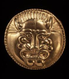: Oxus Treasureld Gold disc Achaemenid ,5th cent BC British Museum