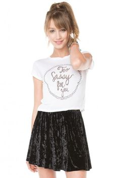 Brandy ♥ Melville | Too Sassy For You Top - Graphic Tops - Clothing