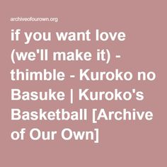 MurasakibaraHimuro. Atsushi's too lazy to be jealous. It's pointless, especially when there's snacks to be eaten, basketball to be practiced, and snacks to be bought when he runs out. It's pointless to care about anyone's feelings but his own.  At least, that's what he's telling himself.
