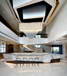 Modern Chinese Garden Real Estate Agency with models of apartment rooms / Liquid Space Residence / Wave, Realestate Sales Centre for China Vanke Co., Ltd. (3 images shown above) / (Times Bund) Clu...