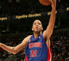 Tayshaun Prince plays for the Detroit Pistons.