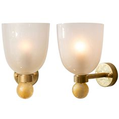 """Pair of Murano """"Avventurina"""" Glass Sconces 