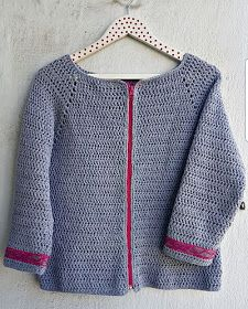 La ventana azul: 213.-Chaqueta a crochet Crochet Jacket, Crochet Cardigan, Loom Knitting Patterns, Crochet Fashion, Crochet Clothes, Crochet Flowers, Doll Clothes, Free Pattern, Mayo