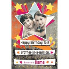 Personalized Birthday Card For Brother CardsPersonalised