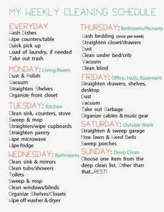 Never Live Silent: A Busy, Working Mom's Cleaning Schedule