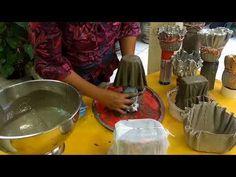 Vasos de tecido é cimento para presente - YouTube