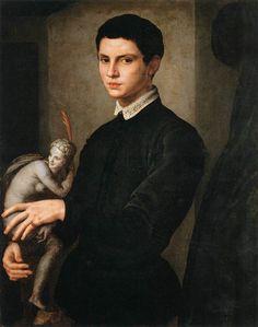 Agnolo BRONZINO - Portrait of a Sculptor,  previously called PORTRAIT of BACCIO BANDINELLI (1493-1560) Paris ; musée du Louvre