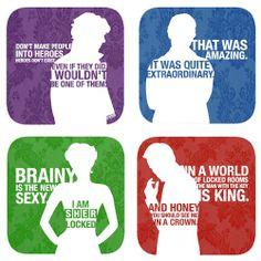 Sherlock, John, Irene, Moriarty
