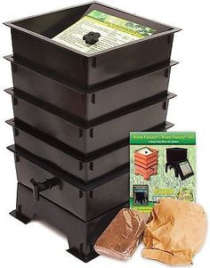 Worm Factory Standard Tray-Sets 3, 4 or 5-(Black, Green, Terracotta)