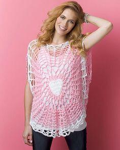 Best Free Crochet » Free Crochet Pattern Lighthearted Tunic From RedHeart.com