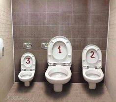 toilets 1 2 3