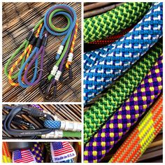 Climbing Rope Dog Leashes for your Big Dog. Custom Lengths and hardware. Made in USA. MyDogsCool.com