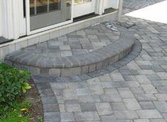 Steps And Porches Pavers,walkways paver, steps, interlocking pavers Porch Steps, Front Garden, Patio Design, Concrete Steps, Front Patio, Front Yard, Patio Stairs, Brick Steps, Front Door Steps