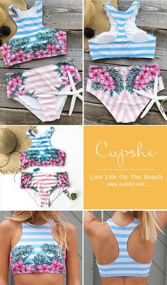 Walk on the beach or swim in the sea, it can great. Have cool feeling and fit with its printing & soft fabric. Pick up this fantastic swimsuit at Cupshe.com !