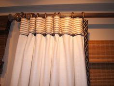 Ripple, box pleated drapery header.  Great for stationary treatments.