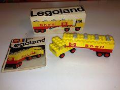 Vintage Lego Legoland 621 Shell Tanker Truck Mini Wheel vehicle from 1970