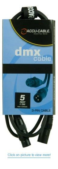Accu Cable Ac3Pdmx5 Five Foot 3 Pin True Dmx Cable