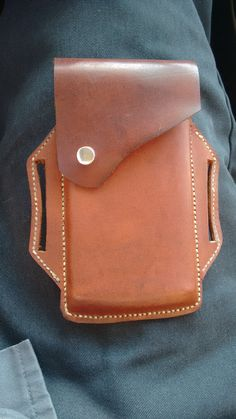 Leather cellphone holder, belt pouch by JestersLeather on Etsy