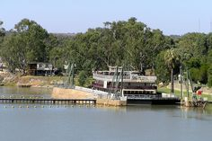 Lock One on the Murray River at Blanchetown with the Murray Princess just fitting into the lock.